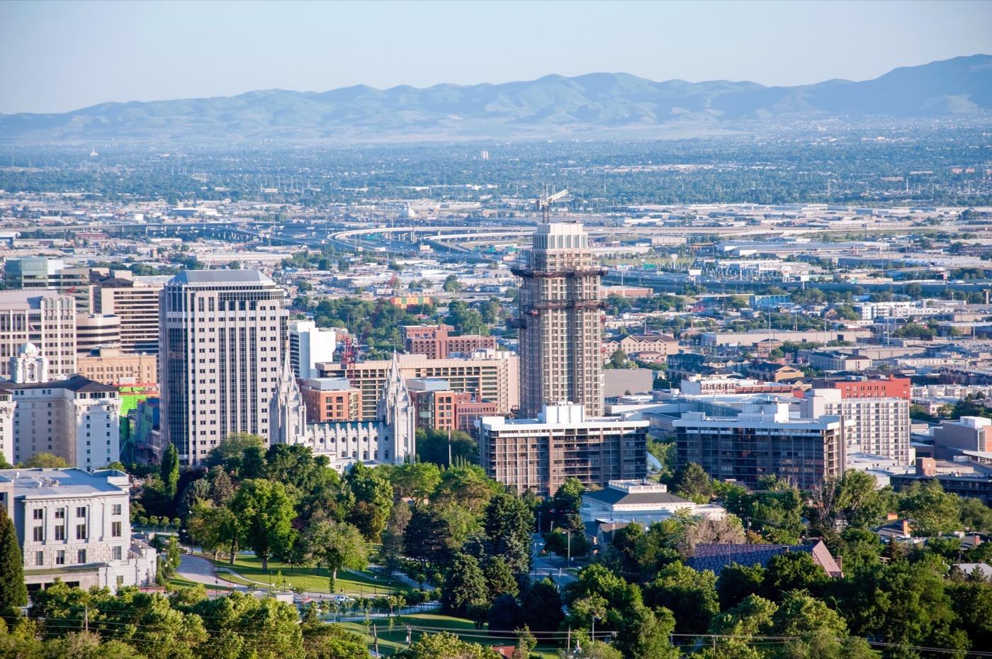 Salt Lake City Utah Downtown Skyline